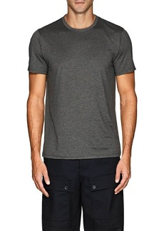 Theory Men's Claey Plaito Silk-Cotton T-Shirt