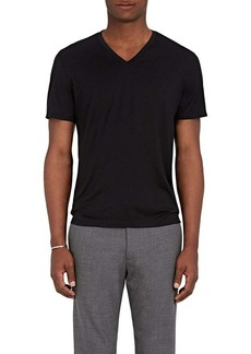 Theory Men's Claey Plaito Silk-Cotton T-Shirt