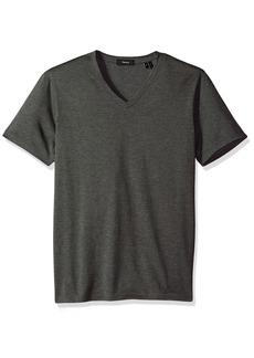 Theory Men's Claey V Plaito Dressy V Neck T Shirt  M