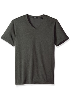 Theory Men's Claey V Plaito Dressy V Neck T-Shirt  S