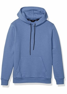 Theory Men's Colorfield Graphic Cure Fleece Hoodie Blue dust M