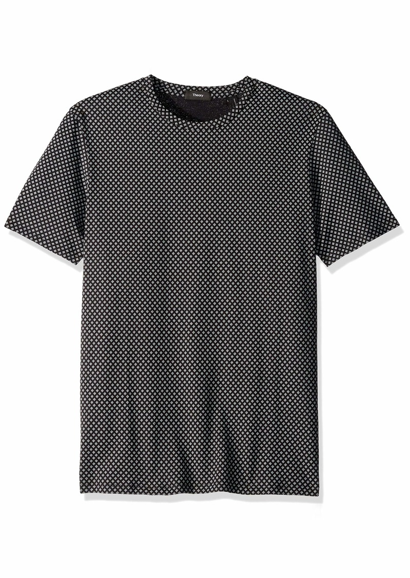 Theory Men's Crew Neck Printed Jersey Tee  S