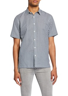 Theory Men's Dash-Print Linen/Cotton Short-Sleeve Sport Shirt