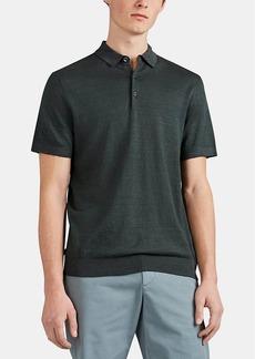 Theory Men's Davies Linen-Blend Short-Sleeve Polo Shirt