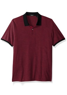 Theory Men's Dressy Polo deep Radish L