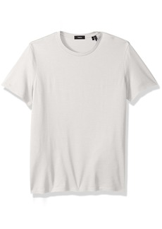 Theory Men's Dressy Silk Blend Crew Neck T Shirt  XS