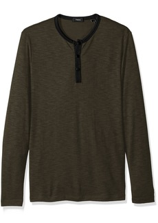 Theory Men's Front Snap Ringer Henley  L