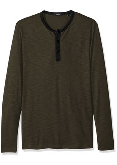 Theory Men's Front Snap Ringer Henley  M