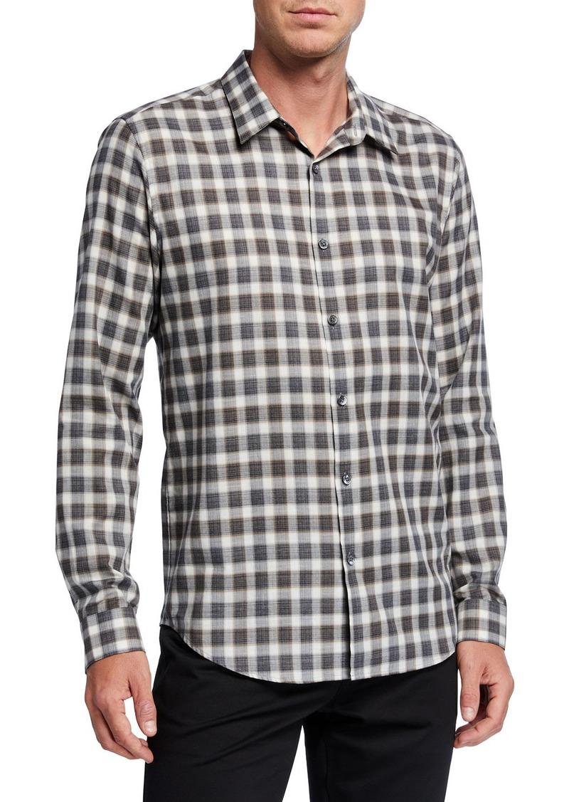 Theory Men's Irving Betton Check Sport Shirt