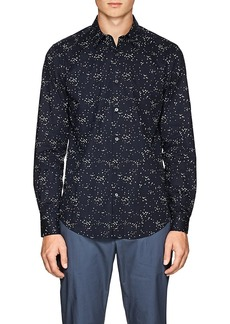 Theory Men's Irving Geometric Cotton Voile Shirt