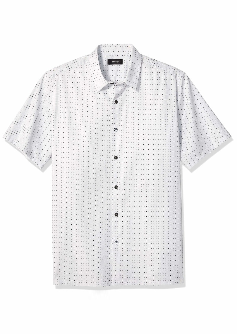 Theory Men's Irving Short Sleeve Sphere Printed Woven  XS