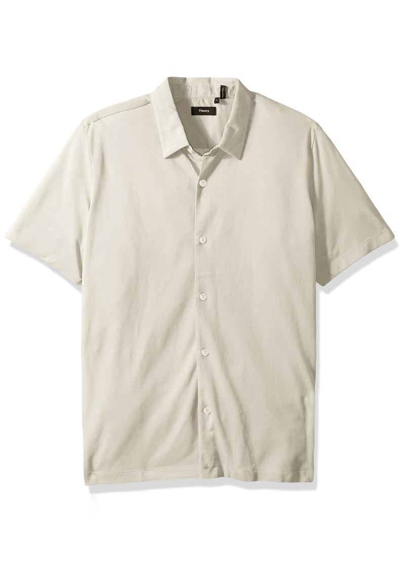 Theory Men's Knit Shirt Ss.air Pique  XL