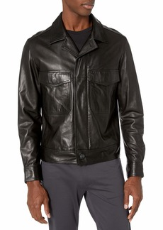Theory Men's Leather Two Pocket Jacket  M