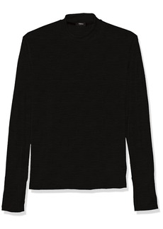 d937253e Theory Men's Long Sleeve Sweater with Mock Neck and Thumbholes S