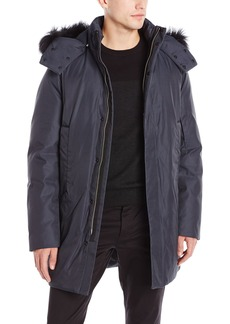 Theory Men's Meyer Decoye Parka Coat with Removable Fur-Trim Hood