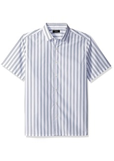 Theory Men's Murrary Bold Stripe Short Sleeve Hydro L