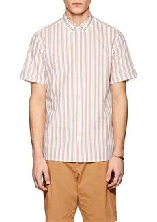 Theory Men's Murrary Striped Cotton-Blend Shirt