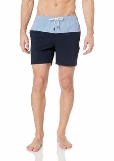 Theory Men's Nylon Color Block Swimwear  XL