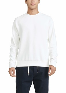 Theory Men's Otto Raglan Long Sleeve Organic Sweatshirt  White