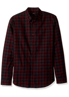 Theory Men's Plaid Check Long Sleeve Woven  S