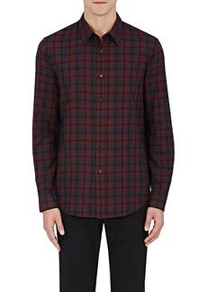Theory Men's Plaid Cotton Shirt