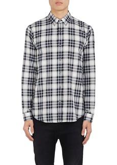 Theory Men's Plaid Herringbone-Weave Cotton Shirt