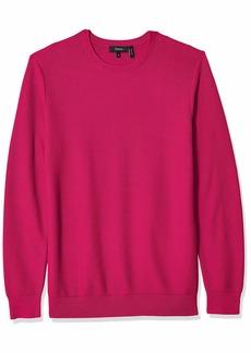 Theory Men's Riland Pique Crewneck Cotton Sweater  L