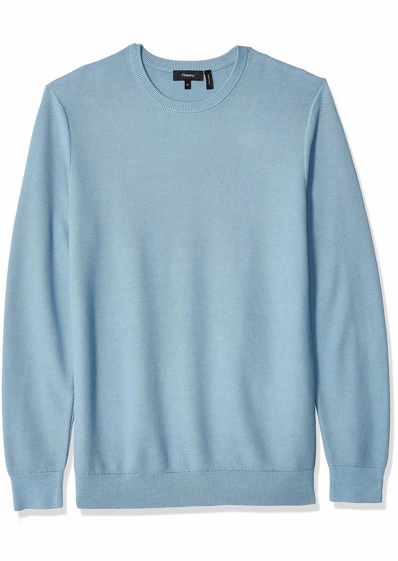 Theory Men's Riland Pique Crewneck Cotton Sweater  S