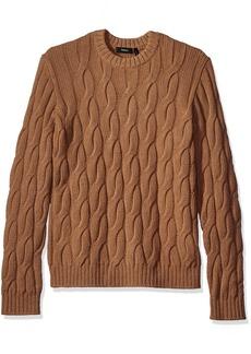 Theory Men's Rockson Camellos Crew Neck Sweater Deep Camel/QOQ