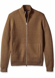 Theory Men's Rovira Full Zip Wool Sweater  XXL