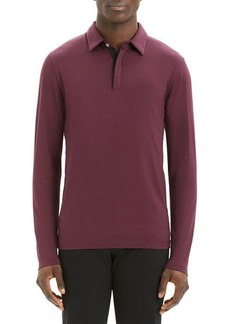 Theory Men's Sartorial Incisive Long-Sleeve Polo Shirt