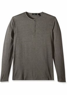 Theory Men's Silk Cotton Dressy Henley  L