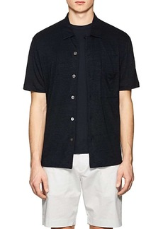 Theory Men's Slub Linen Jersey Shirt