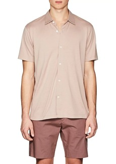 Theory Men's Stockinette-Stitched Silk-Cotton Shirt