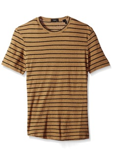 Theory Men's Striped Short Sleeve Tee  M