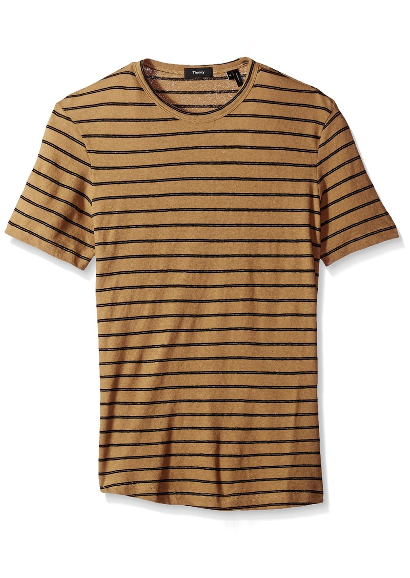 Theory Men's Striped Short Sleeve Tee  S