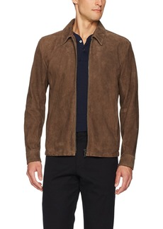 Theory Men's Suede Front Zip Jacket  L