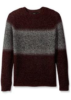 Theory Men's Sweater with Stripe deep Radish Multi XXL