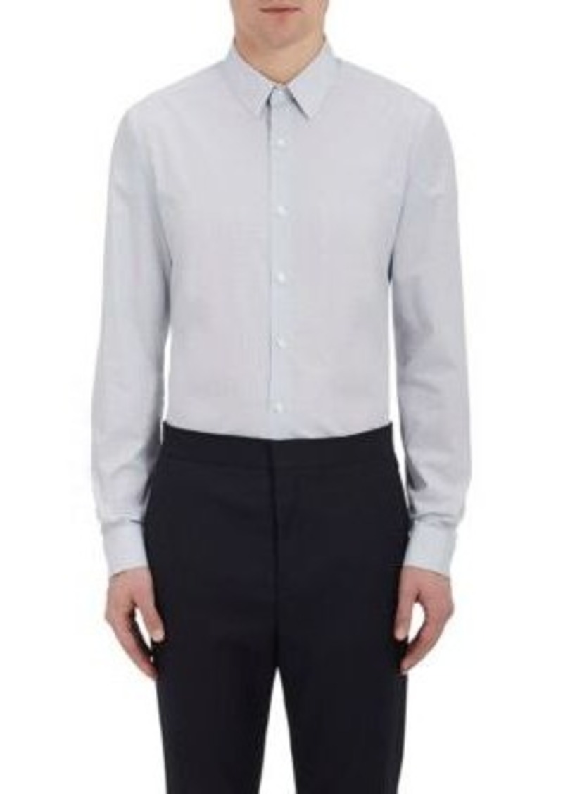 Theory Theory Men 39 S Sylvain Pinstriped Dotted Shirt