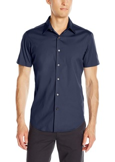 Theory Men's Sylvain S Wealth Short Sleeve Button Down Shirt