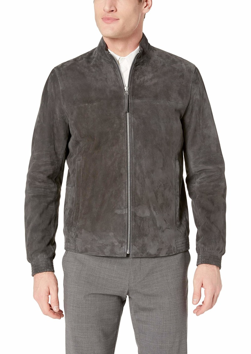 Theory Men's Tremont Goat Leather Suede Jacket  XS