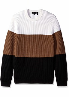 Theory Men's tri Color Chunky Wool Sweater  M