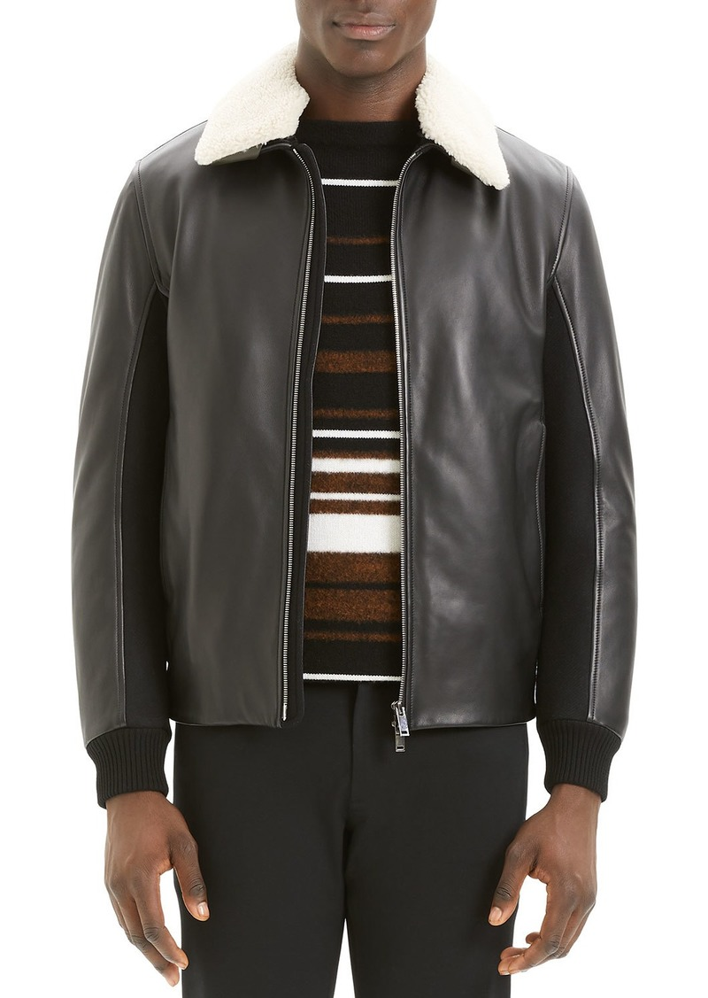 Theory Men's Tyler Casse Lamb Leather & Shearling Jacket