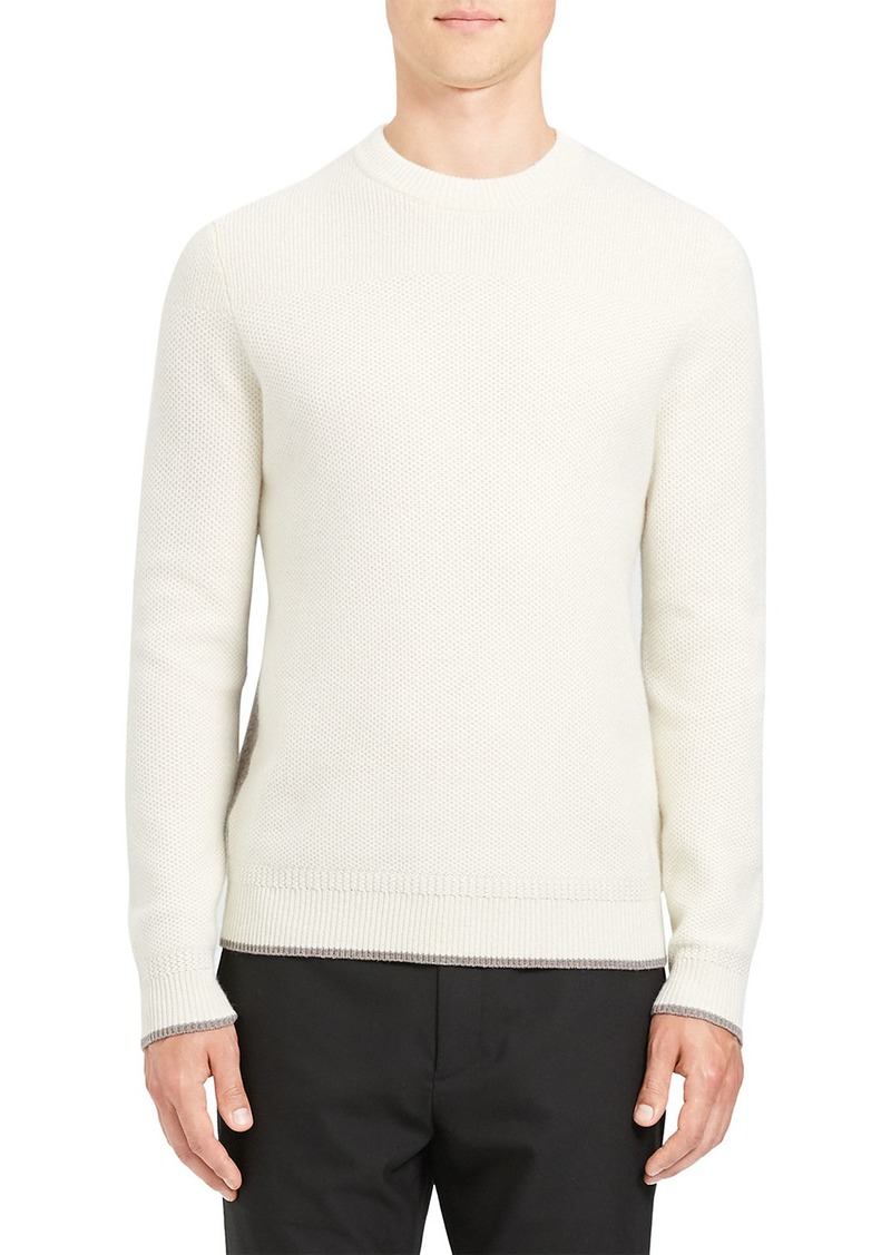 Theory Men's Winlo Crimden Contrast-Back Wool Sweater