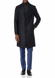 Theory Men's Wool Over Coat in Herringbone  L