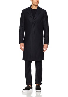 Theory Men's Wool Over Coat in Herringbone  M