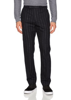 Theory Men's Wool Trouser with Stitched Pin Stripe