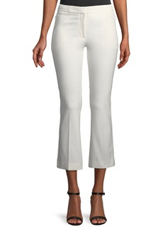 Theory Mid-Rise Bi-Stretch Kick-Flare Cropped Pants