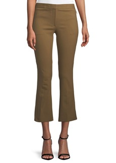 Theory Mid-Rise Bi-Stretch Kick-Flare Cropped Pants