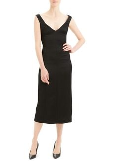 Theory Midi Crepe Sheath Dress